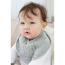 Giggles in Gray strikket smekke til baby - Drops Children 29-16
