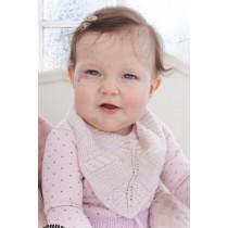 Giggles in Pink strikket baby smekke - Drops 29-17