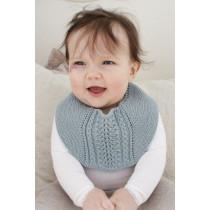 Giggles in Blue strikket babysmekke - Drops 29-18