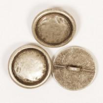 Sølvfarget metallknapp 20mm - Drops 529
