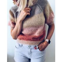 Sorbet bluse fra Mille Fryd Knitwear (korte ermer)