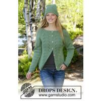 Green Luck sett med jakke og lue fra Drops 196-11
