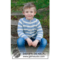 Sky stripes strikket barnejakke - Drops Children 34-20