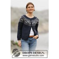 Idun strikkejakke - Drops 206-3