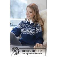 Victoria strikket setesdalsgenser - Drops 0-810