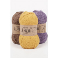 Drops Alpaca uni colour - 4400 Lilla