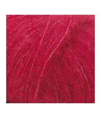 Drops Brushed alpaca silk uni colour - 07 Rød