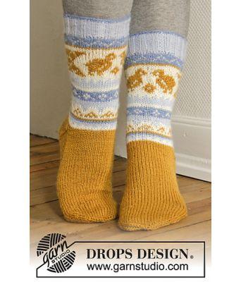 Chicken dance sokker med påskekylling - Drops 0-1102