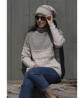 Lode genser og lue 1708-4