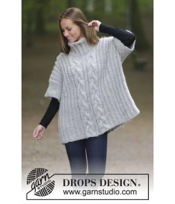 Winter Snuggle vid ermsømløs strikkegenser med høy hals - Drops 181-18