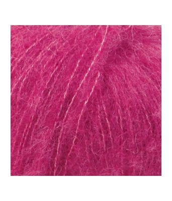 Drops Brushed alpaca silk uni colour - 18 Cerise