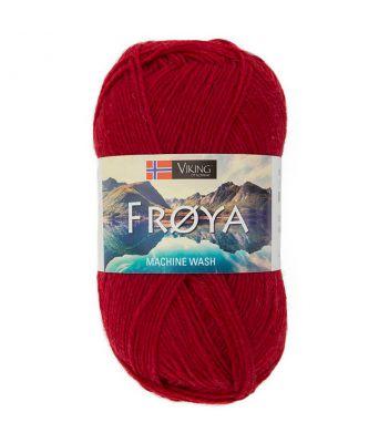 Viking garn - Frøya 209 - Mørk rød