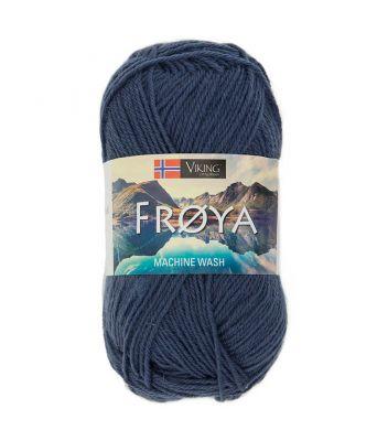 Viking garn - Frøya 225 - Jeansblå