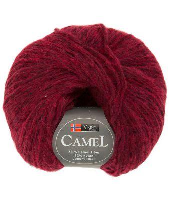 Viking garn - Camel 260 - Melert rød