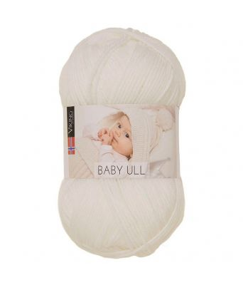 Viking garn - Baby Ull 300 - Hvit