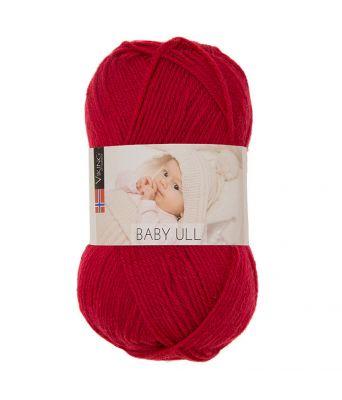 Viking garn - Baby Ull 350 - Rød