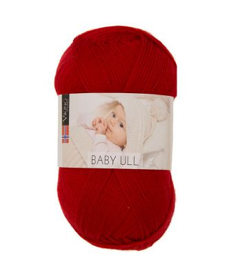 Viking garn - Baby Ull 355 - Julerød