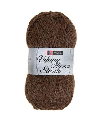Viking garn - Alpaca Storm 508 - Brun