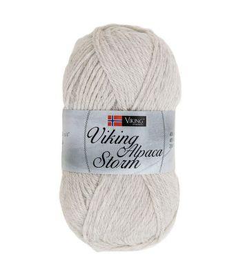 Viking garn - Alpaca Storm 512 - Perlegrå
