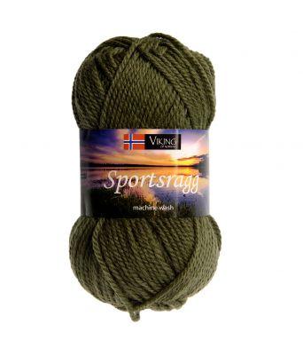 Viking garn - Sportsragg 532 - Olivengrønn