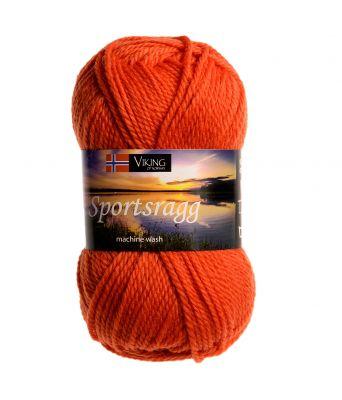 Viking garn - Sportsragg 551 - Oransje