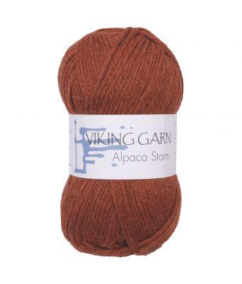 Viking garn - Alpaca Storm 552 - Rustbrun