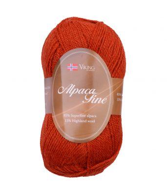 Viking garn - Alpaca Fine 654 - Brent oransje