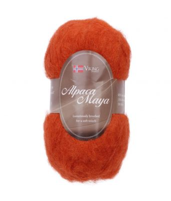 Viking garn - Alpaca Maya 751 - Oransje