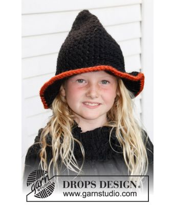 Merlina heksehatt til Halloween - Drops 0-779