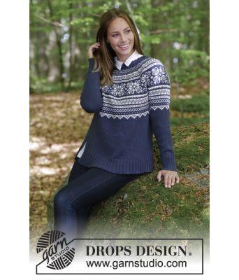 Lofoten genser i merinoull - Drops 181-9