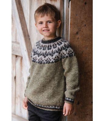 Slodir til barn i LettLopi islandsk ullgarn - Istex 92432