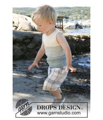Little Mate strikket singlet til barn og baby - Drops children 28-3