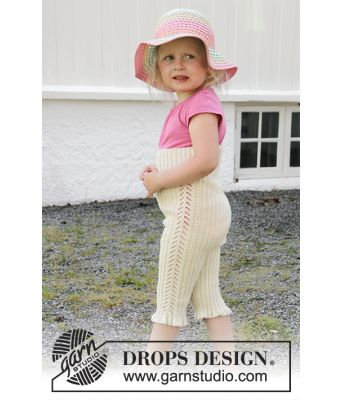 Sweet Promenade strikket tights til barn i merinoull - Drops Children 28-8