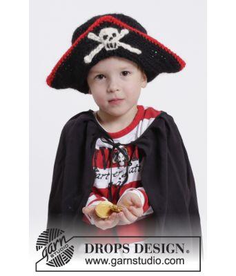 Ahoy! Sjørøverlue med hodeskalle - Drops 0-1073