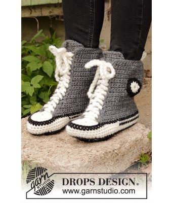 Cool Kicks heklede tøfler / sneakers inspirert av Converse - Drops 196-6