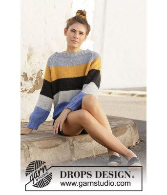 Valencia stripete genser - Drops 202-9