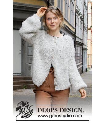 Weekend Vibe strikket jakke med ballongermer - Drops 205-38
