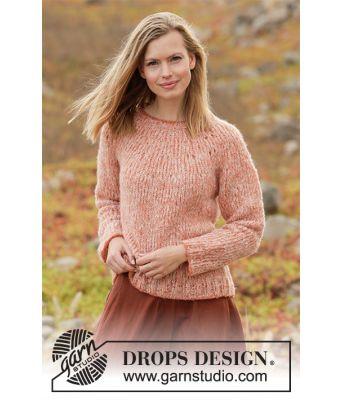 Frosted Foliage strikket damegenser - Drops 212-34