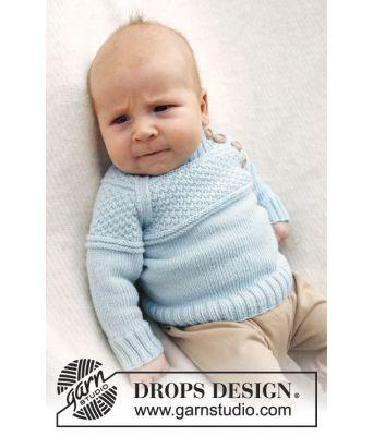 McDreamy strikket babygenser i merinoull - Drops baby 21-15