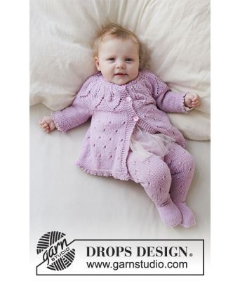 Pink Petals hentesett til baby - Drops Baby 33-13