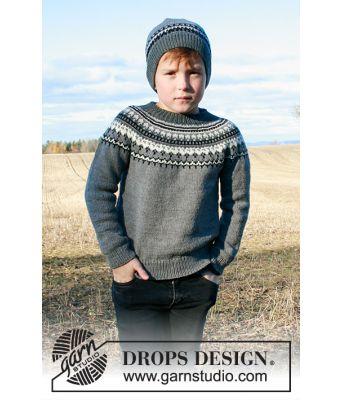 Riddari inspirert strikkegenser og lue Dalvik Drops 185 1