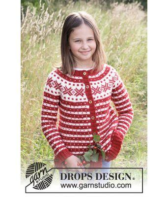 Candy Cane Land strikket julekofte til barn - Drops children 34-31