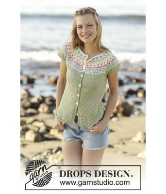 Spring Valley Cardigan by Drops / 175 / 7