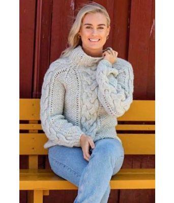 Flettefin genser
