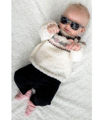 Vilda babygenser med broderte poter - Jarbo 91416
