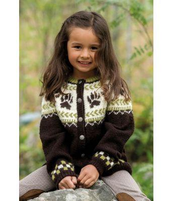Vargtass barnekofte med dyremønster - Jarbo 92443