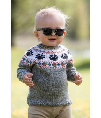 Vilde babygenser med broderte dyrepoter - Jarbo 92469