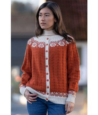 Lydia jakke - Viking 2019-II Brent oransje / naturhvit