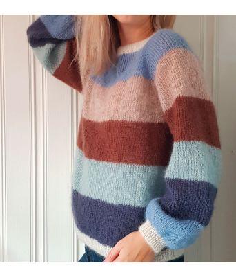 Sorbet bluse fra Mille Fryd Knitwear (lange ermer)