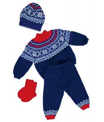 Klassisk sett med genser, bukse, lue og sokker - Viking 1101-1
